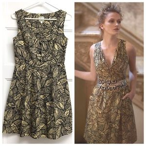Weston Wear (Anthro) Emerging Leaves Dress